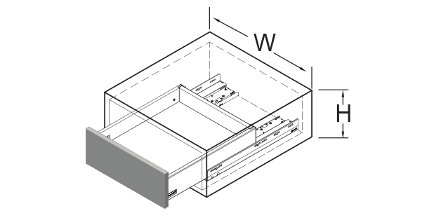 SIMLEAD Metal Drawer System
