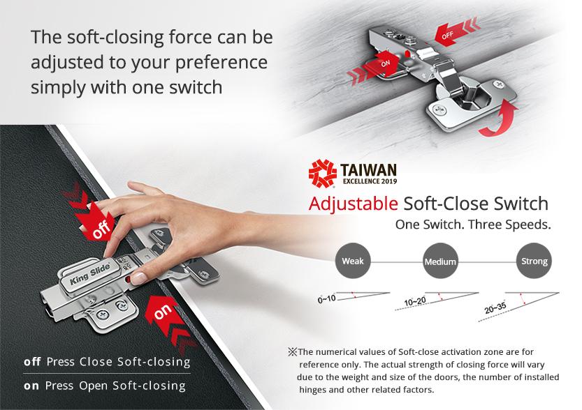 9252 Adjustable Concealed Soft-Close Hinges